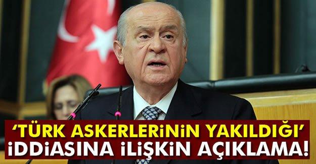 Bahçeli, 'DEAŞ'ın 2 Türk askerini yaktığı iddialarına' ilişkin konuştu