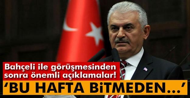 """Başbakan Yıldırım: """"Bu hafta bitmeden anayasa teklifimizi Meclise getireceğiz"""""""