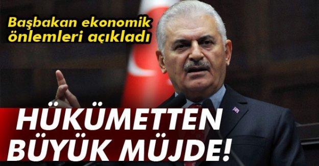 Başbakan Yıldırım ekonomik önlemleri açıkladı