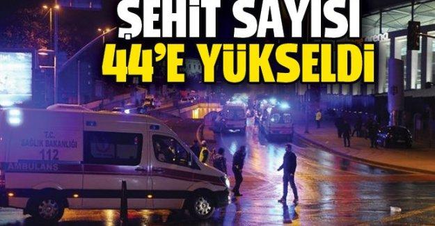 Beşiktaş'taki saldırıda şehit sayısı 44'e yükseldi