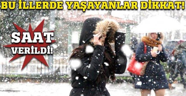 Bu illerde yaşayanlar dikkat! Kar geliyor
