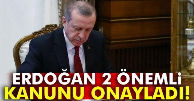 Cumhurbaşkanı Erdoğan, iki kanunu onayladı
