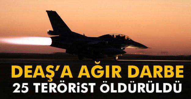 DEAŞ'a ağır darbe! 25 terörist öldürüldü