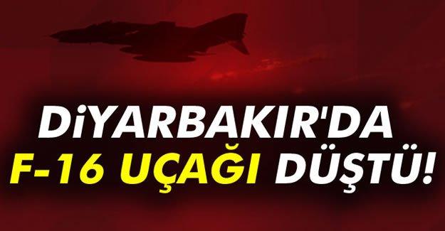 Diyarbakır'da F-16 uçağı düştü