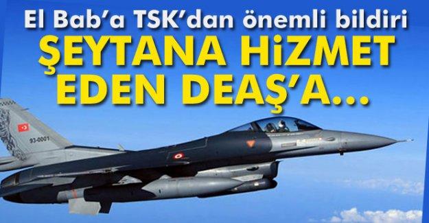El Bab bölgesinde TSK'dan önemli bildiri