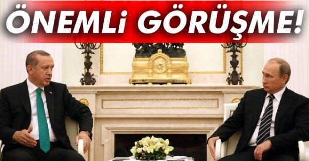 Erdoğan ile Putin arasında önemli görüşme!