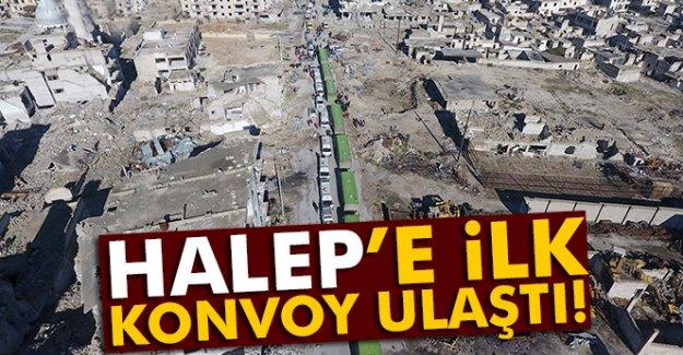 Halep'e ilk konvoy ulaştı!