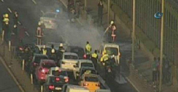 Haliç Köprüsü'nde korkutan yangın