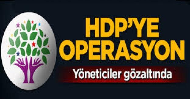 HDP'ye dev operasyon: Çok sayıda gözaltı var
