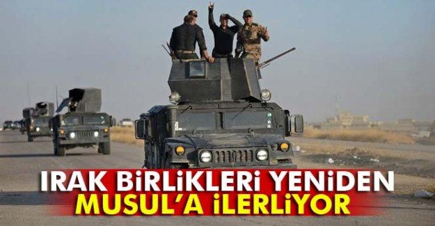 Irak birlikleri yeniden Musul'a ilerliyor