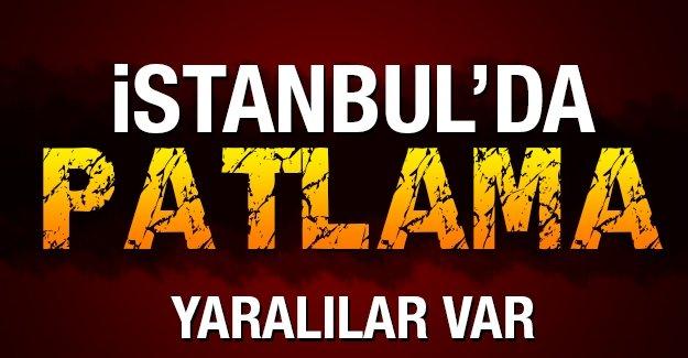 İstanbul'da bombalı saldırı: Yaralılar var!