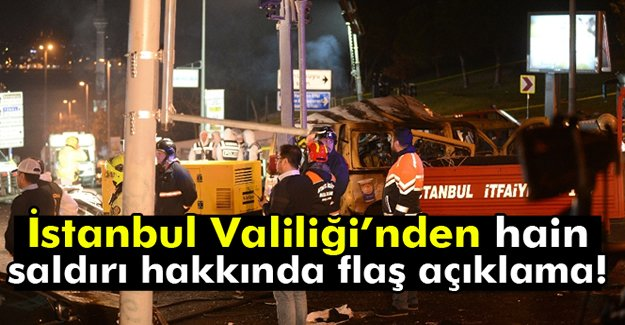 İstanbul Valiliğinden Flaş Açıklama!