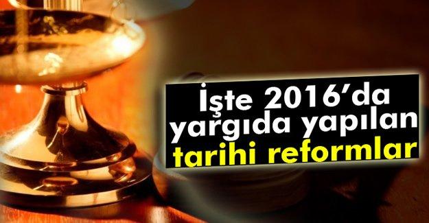 İşte 2016'da yargıda yapılan reformlar