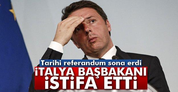 İtalya'daki referandum sona erdi! Başbakan istifa etti