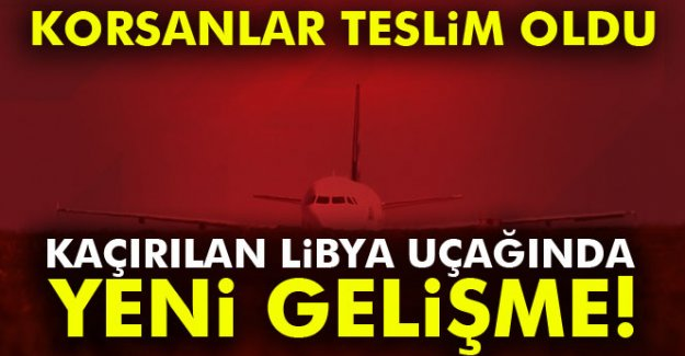 Kaçırılan Libya uçağında yeni gelişma