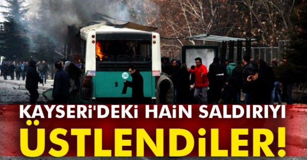 Kayseri'deki hain saldırıyı üstlendiler