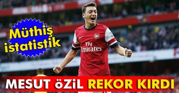 Mesut Özil, rekor kırdı!