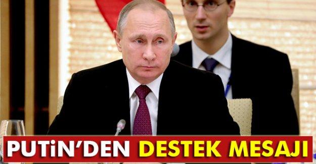 Putin'den destek mesajı