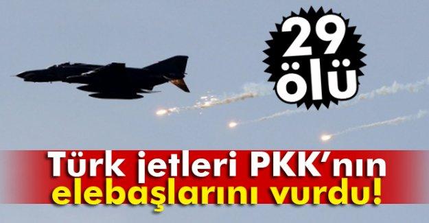 Türk jetleri PKK'nın elebaşlarını vurdu: 29 ölü