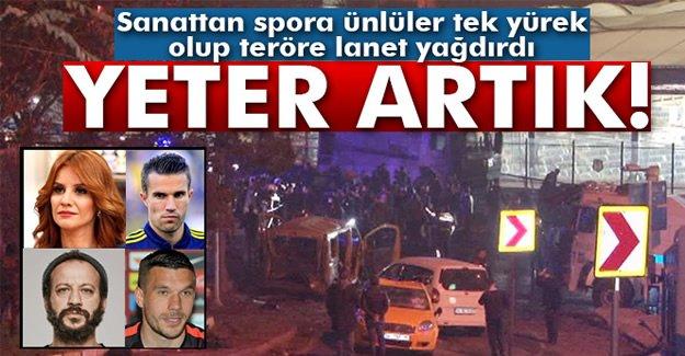 Ünlü isimler Beşiktaş'taki hain saldırı sonrası teröre lanet yağdırdı!