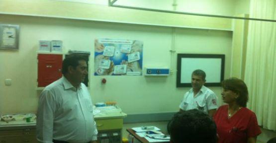 Ankara-İzmir yolunda hastane ve polis ziyareti