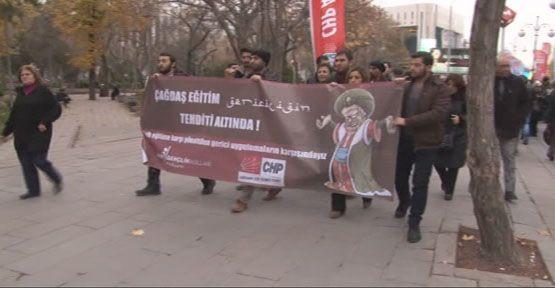 CHP'lilerden Milli Eğitim Bakanlığı önünde eylem