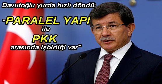 Davutoğlu'ndan paralel açıklaması