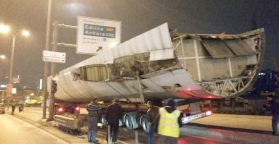 E5'te Uçak Kazası