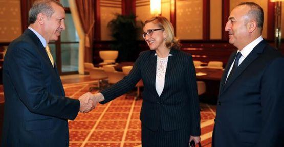Erdoğan Gürcü Bakanla görüştü