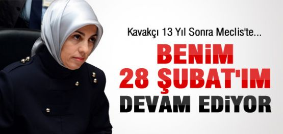 MERVE KAVAKÇI 13 YIL SONRA MECLİS'TE
