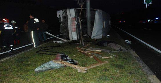 Gaziantep'te feci kaza: 1 ölü, 15 yaralı