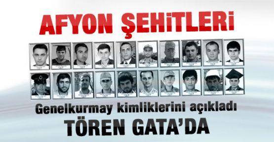 Genelkurmay Afyon şehitlerinin kimliklerini açıkladı