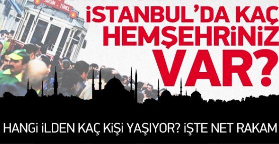 İşte İstanbul'un Memleket Haritası (Foto Haber)