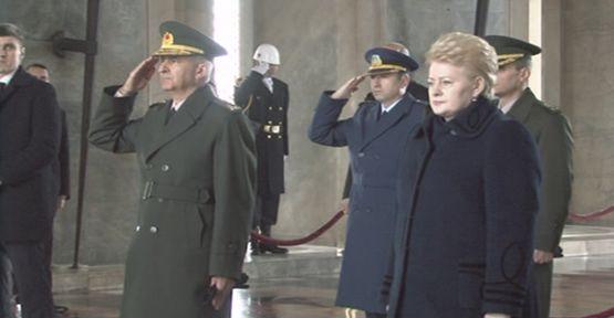 Litvanya Cumhurbaşkanı Anıtkabir'de