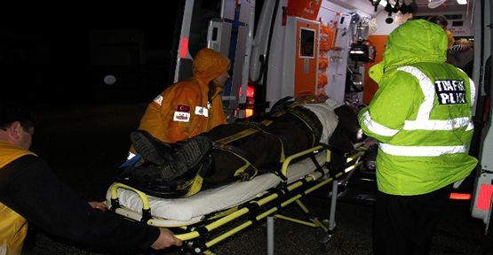 Otobüs ile TIR çarpıştı: 7 yaralı