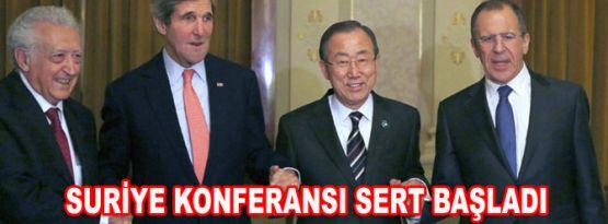 Suriye Konferansı Sert Başladı