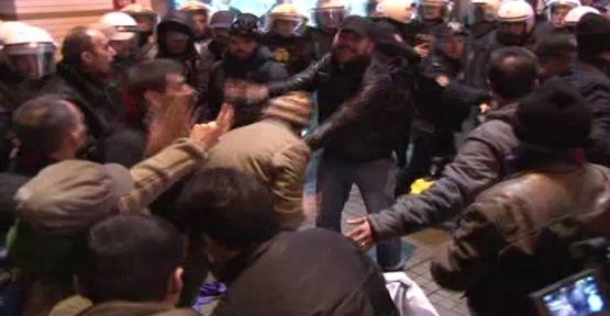 Taksim'deki ''IŞİD'' protestosunda gözaltı