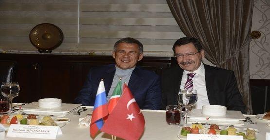 Tataristan Cumhurbaşkanı'nı ağırladı