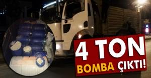 Kamyon#039;da 4 Ton Bomba Çıktı!