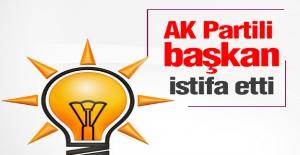 AK Partili Başkan İstifa Etti
