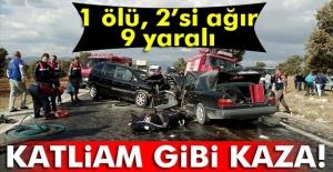 Uşakta trafik kazası 1 ölü,...