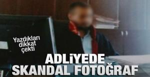 Afyonkarahisar Adliyesi'nde skandal fotoğraf
