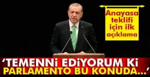 Erdoğan: Temenni ediyorum ki parlamento...