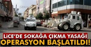 Lice'de sokağa çıkma yasağı: Operasyon başlatıldı