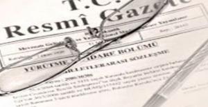 Resmi Gazete#039;de yayınlandı!...