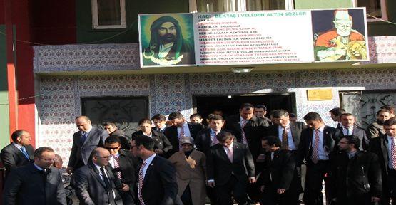 Davutoğlu Tunceli'de cemevinde