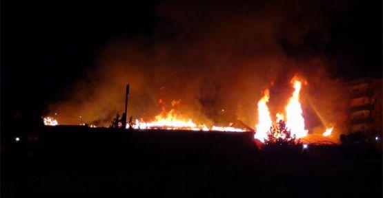 Diyarbakır'da okul yangını