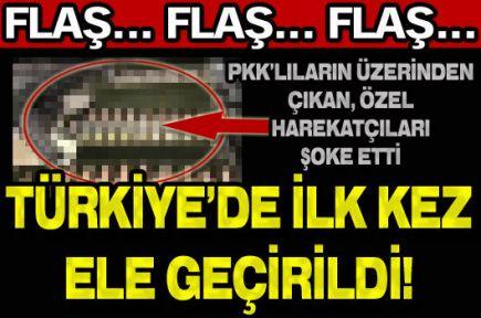Türkiye'de ilk kez ele geçirildi