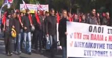 Yunanistan'da hükümet protestosu