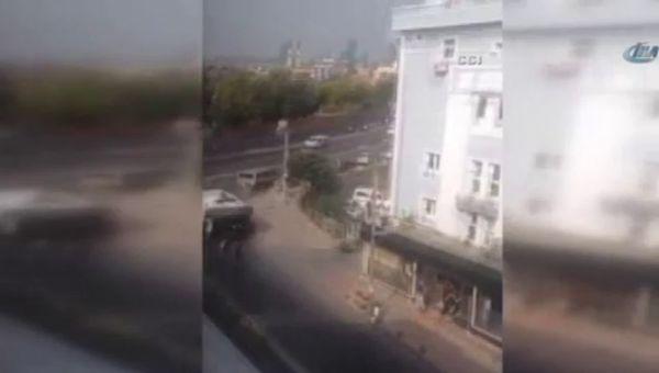 Okmeydanı'ndaki çatışma kamerada